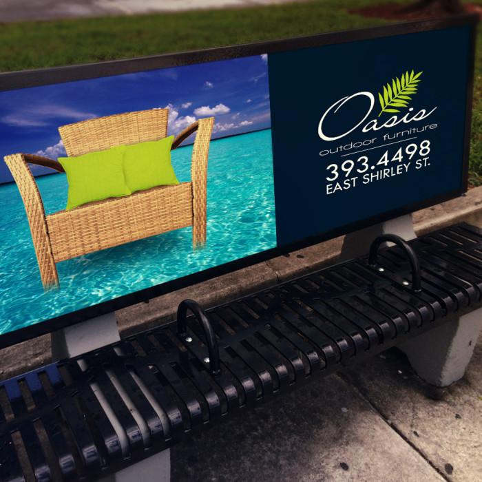 Oasis – Bench Signage