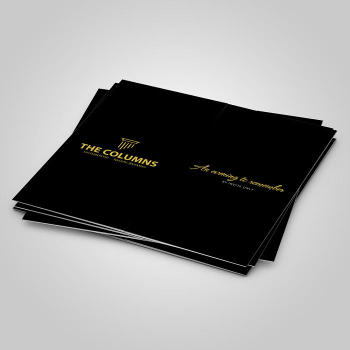 The Columns – Brochure & Invitation